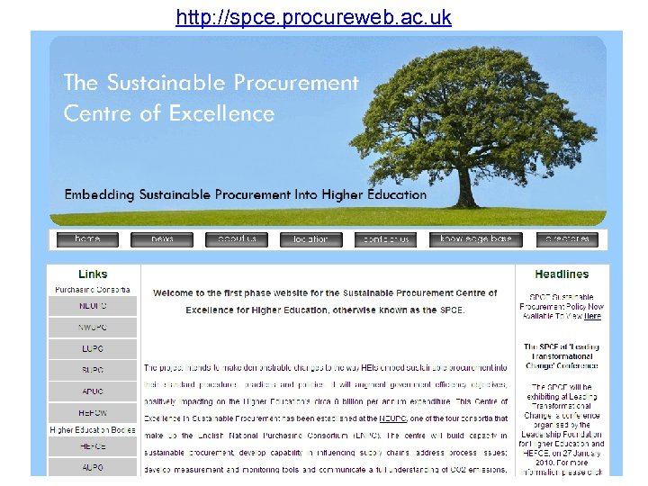 http: //spce. procureweb. ac. uk