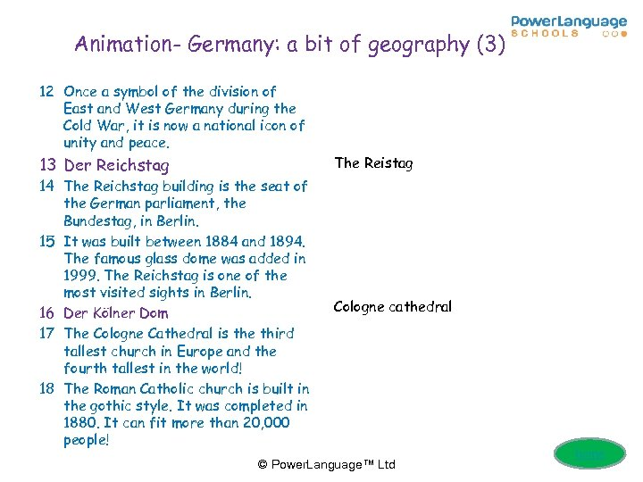 Animation- Germany: a bit of geography (3) 12 Once a symbol of the division
