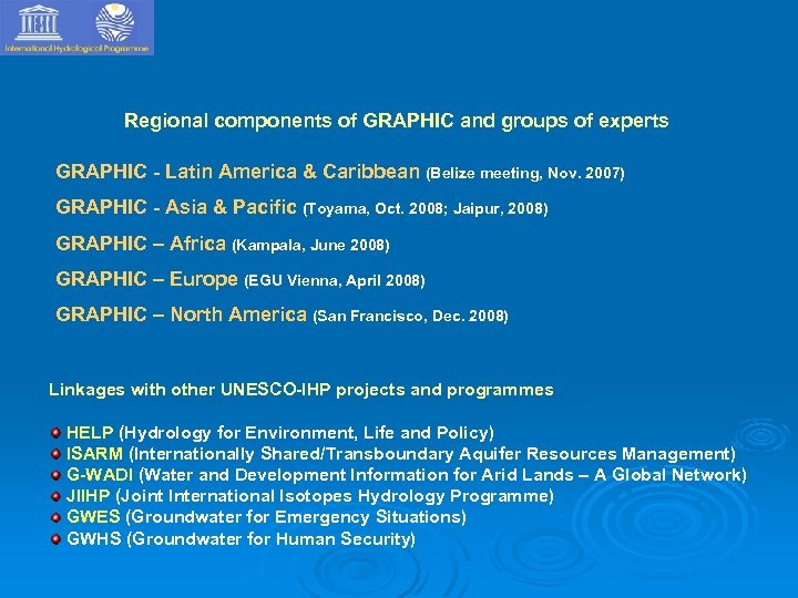 Regional components of GRAPHIC and groups of experts GRAPHIC - Latin America & Caribbean