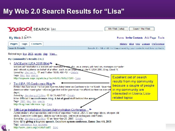"My Web 2. 0 Search Results for ""Lisa"" Excellent set of search results from"