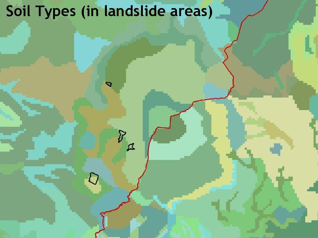 Soil Types (in landslide areas)