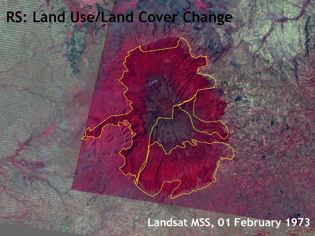 RS: Land Use/Land Cover Change Landsat MSS, 01 February 1973