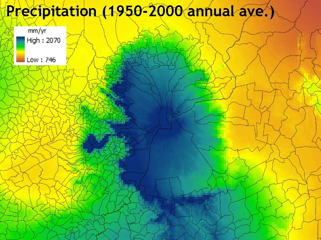Precipitation (1950 -2000 annual ave. )