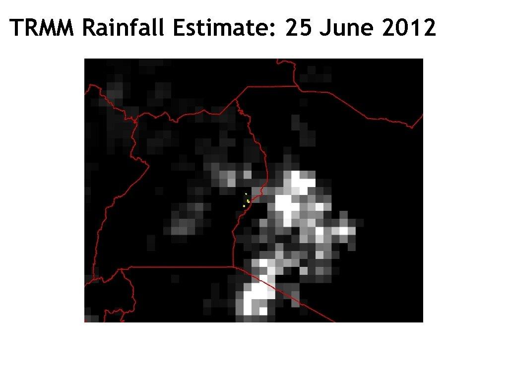 TRMM Rainfall Estimate: 25 June 2012