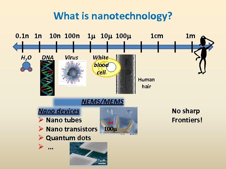 What is nanotechnology? 0. 1 n 1 n 100 n 1 m 100 m