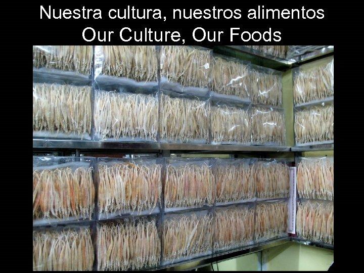 Nuestra cultura, nuestros alimentos Our Culture, Our Foods