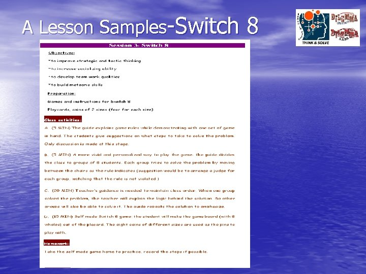 A Lesson Samples-Switch 8