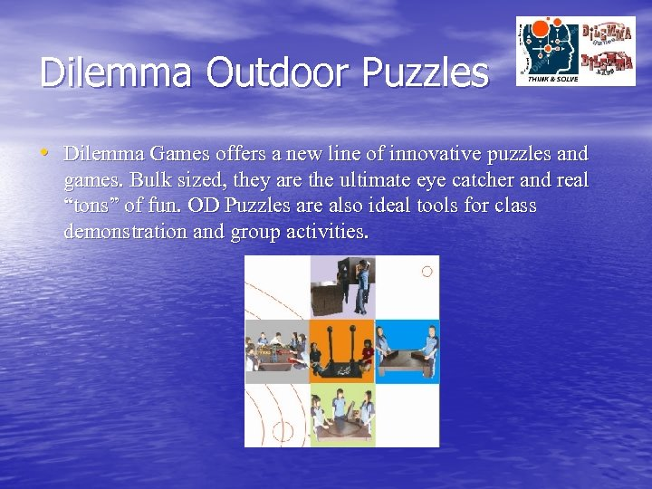 Dilemma Outdoor Puzzles • Dilemma Games offers a new line of innovative puzzles and