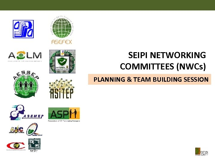 SEIPI NETWORKING COMMITTEES (NWCs) PLANNING & TEAM BUILDING SESSION