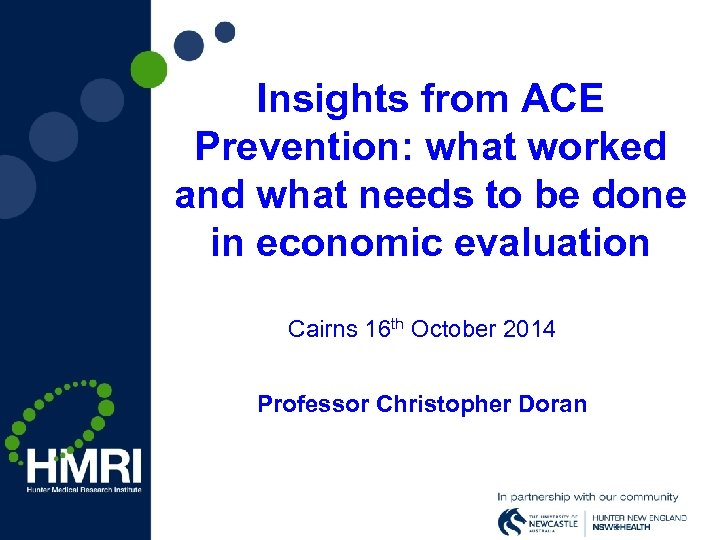 Insights from ACE Prevention: what worked and what needs to be done in economic