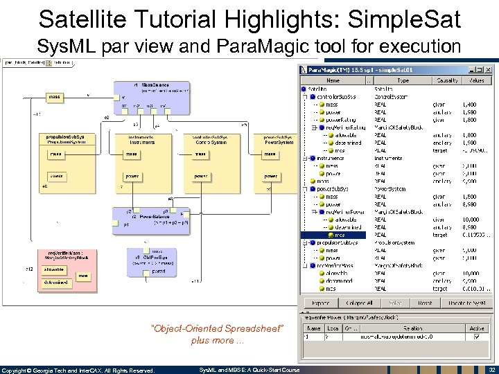 Satellite Tutorial Highlights: Simple. Sat Sys. ML par view and Para. Magic tool for