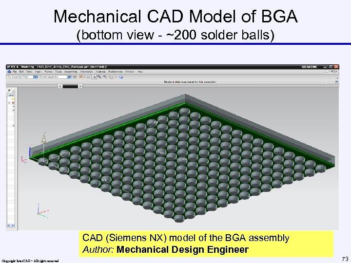 Mechanical CAD Model of BGA (bottom view - ~200 solder balls) CAD (Siemens NX)