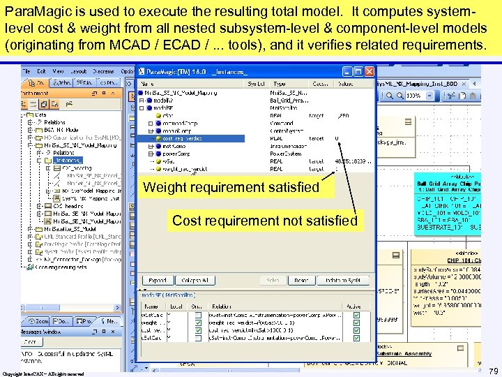Para. Magic is used to execute the resulting total model. It computes systemlevel cost