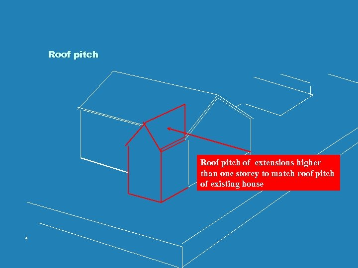 Roof pitch of extensions higher than one storey to match roof pitch of existing