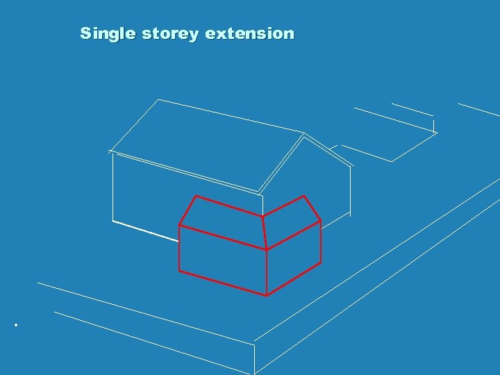 Single storey extension .