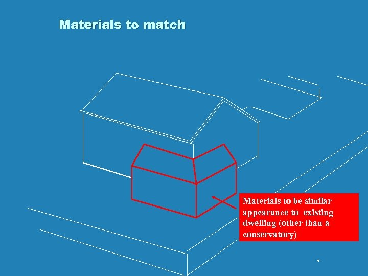 Materials to match Materials to be similar appearance to existing dwelling (other than a