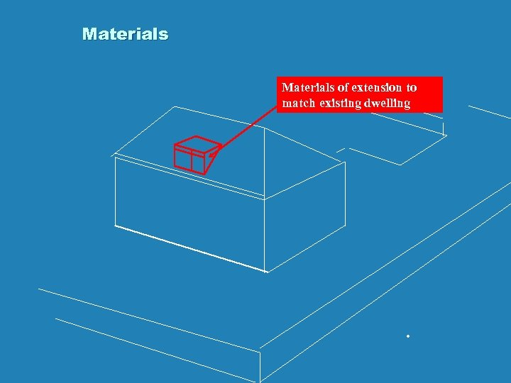 Materials of extension to match existing dwelling .