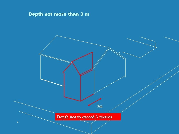Depth not more than 3 m 3 m . Depth not to exceed 3