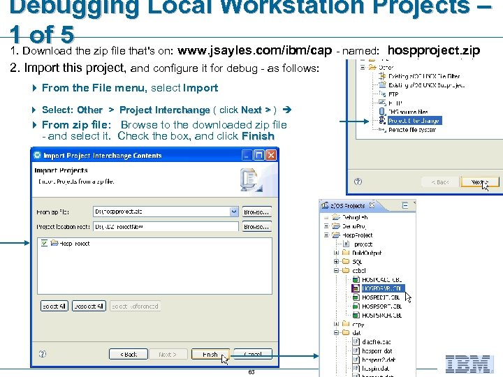Debugging Local Workstation Projects – 1 Download the zip file that's on: www. jsayles.