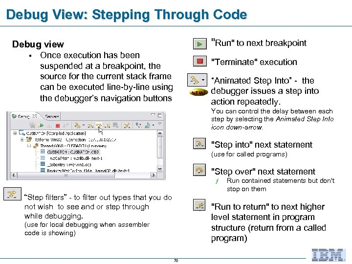 Debug View: Stepping Through Code n §