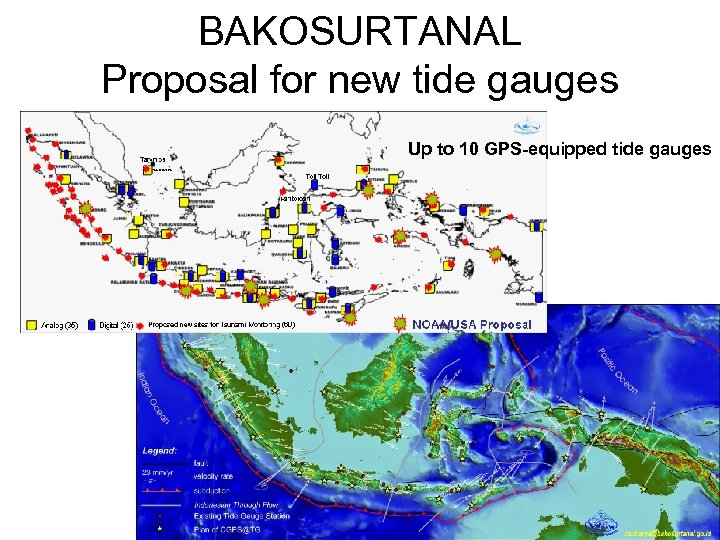 BAKOSURTANAL Proposal for new tide gauges Up to 10 GPS-equipped tide gauges