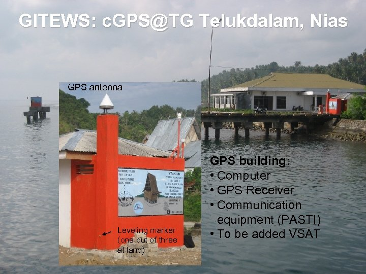 GITEWS: c. GPS@TG Telukdalam, Nias GPS antenna Leveling marker (one out of three at