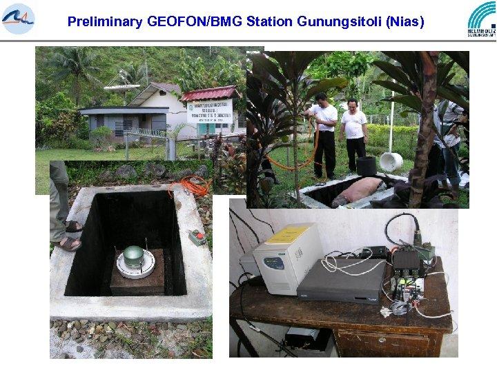Preliminary GEOFON/BMG Station Gunungsitoli (Nias)