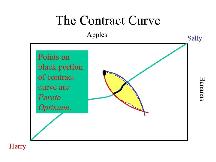The Contract Curve Apples Harry Bananas Points on black portion of contract curve are