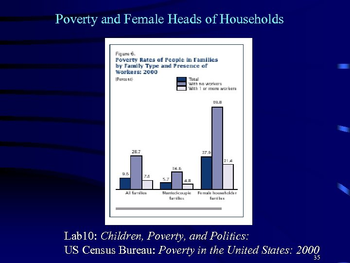 Poverty and Female Heads of Households Lab 10: Children, Poverty, and Politics: US Census
