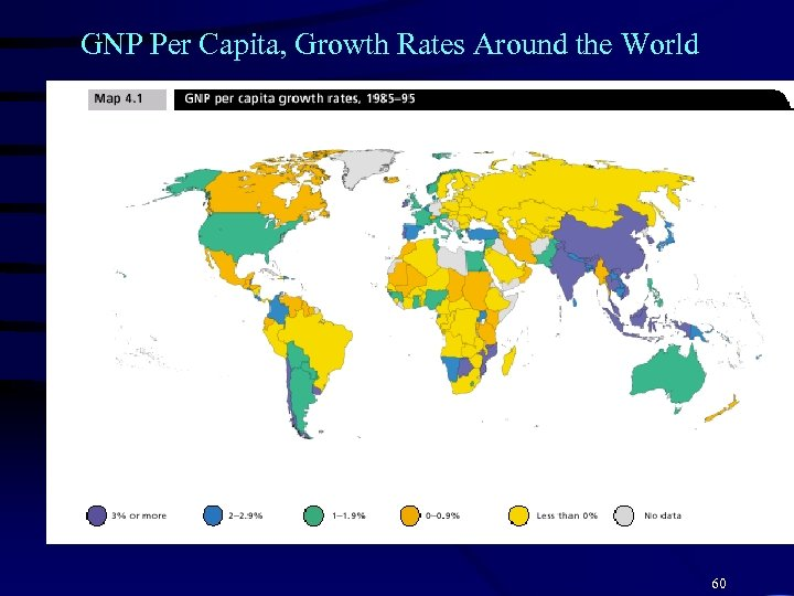 GNP Per Capita, Growth Rates Around the World 60
