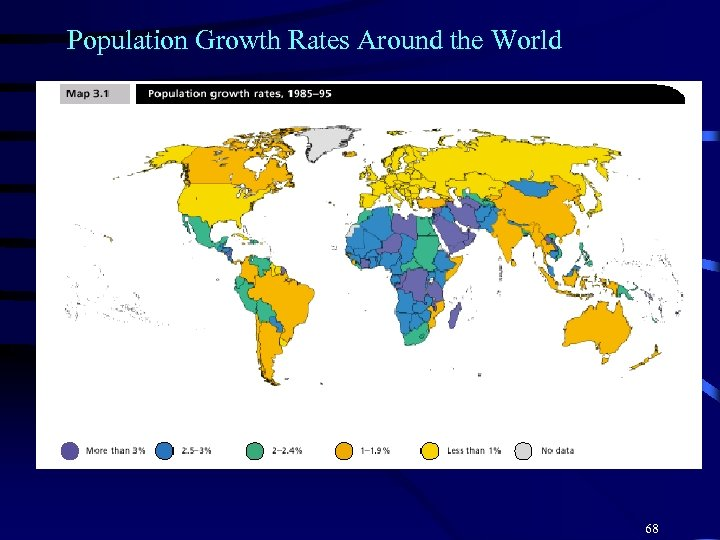 Population Growth Rates Around the World 68