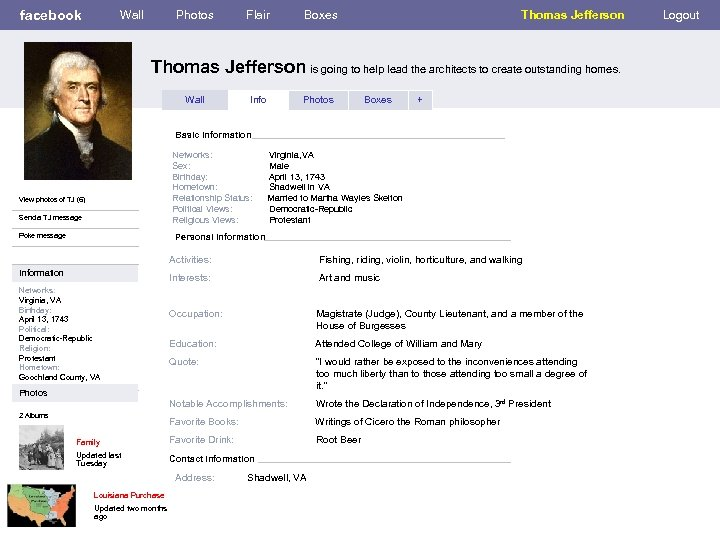 facebook Wall Photos Flair Boxes Thomas Jefferson is going to help lead the architects