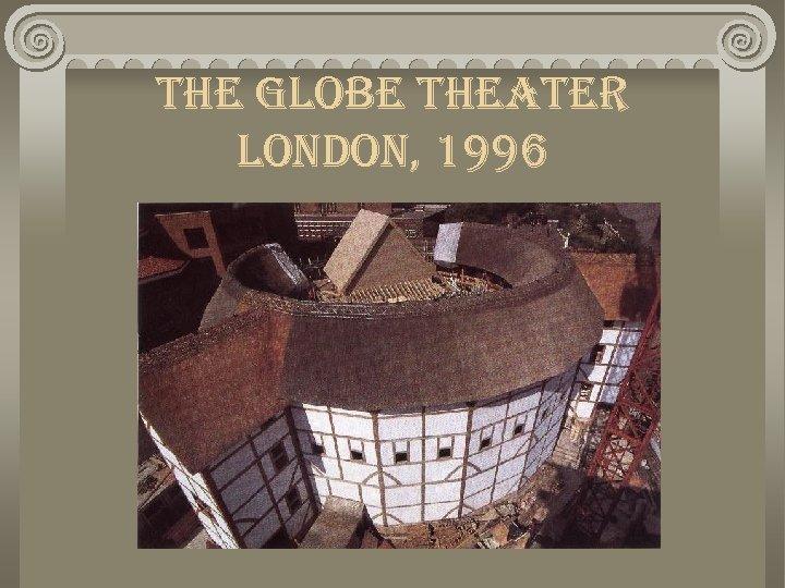 the globe theater london, 1996