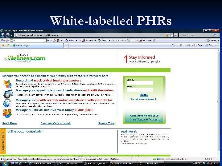 White-labelled PHRs