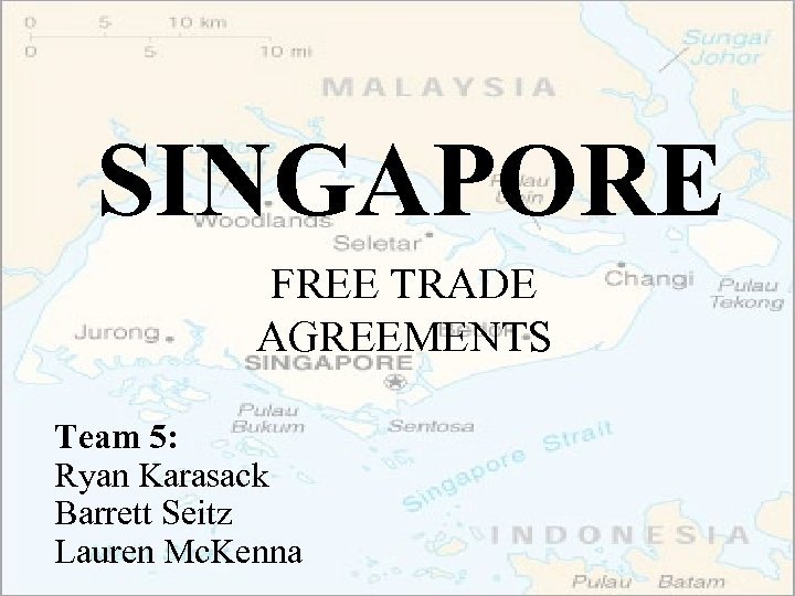 Singapore Free Trade Agreements Team 5 Ryan Karasack