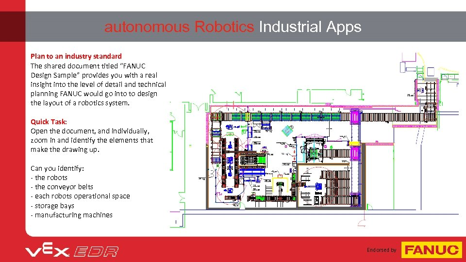 "autonomous Robotics Industrial Apps Plan to an industry standard The shared document titled ""FANUC"