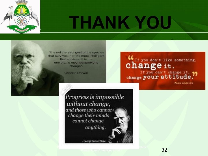 """THANK YOU """"Working together with the people to push back the frontiers of poverty"""""""