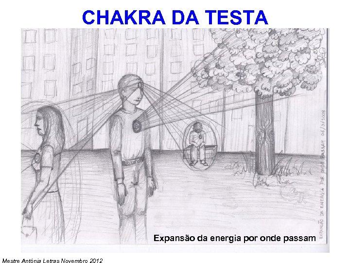 CHAKRA DA TESTA Expansão da energia por onde passam Mestre Antónia Letras Novembro 2012