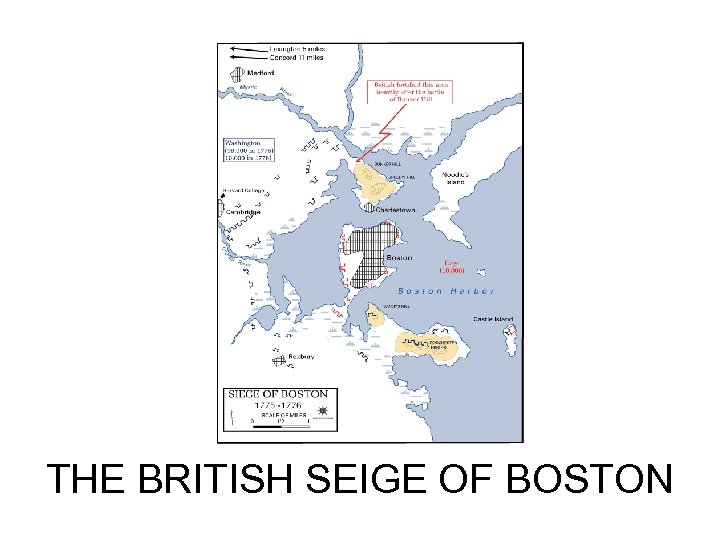 THE BRITISH SEIGE OF BOSTON