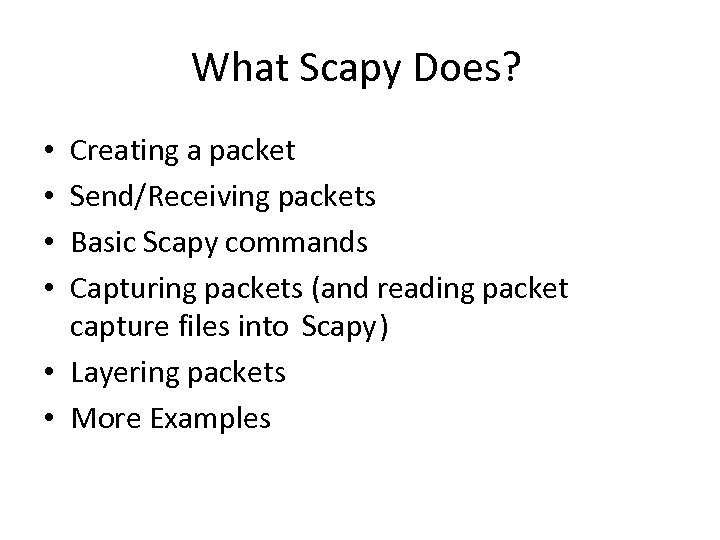 Scapy Packet Manuplation CE 340 S Kondakcı What