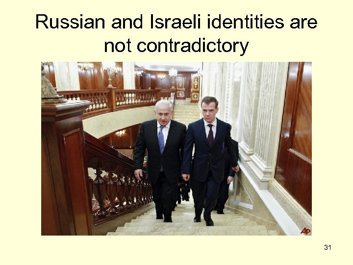 Russian and Israeli identities are not contradictory 31