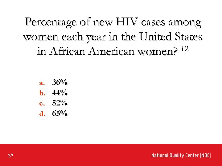 Percentage of new HIV cases among women each year in the United States in
