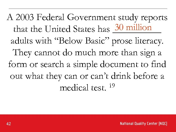 A 2003 Federal Government study reports 30 million that the United States has _____