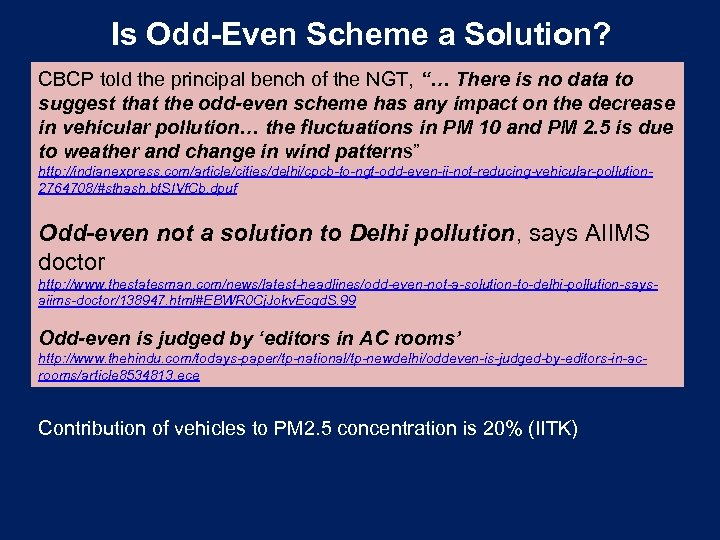 """Is Odd-Even Scheme a Solution? CBCP told the principal bench of the NGT, """"…"""