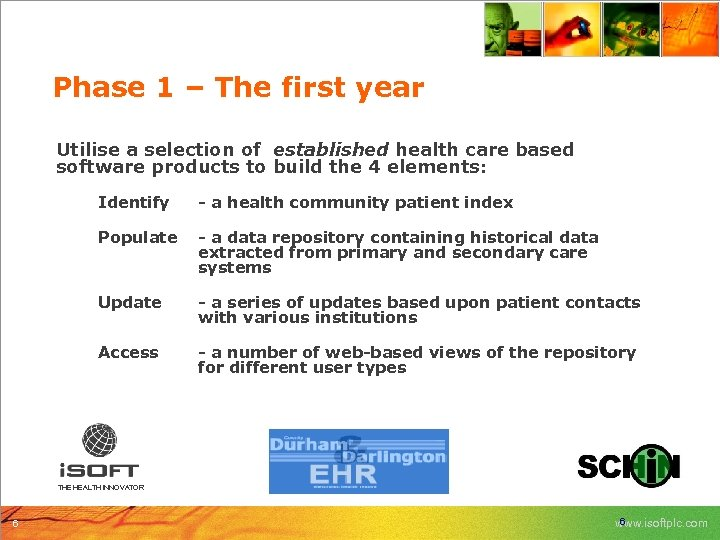 Phase 1 – The first year Utilise a selection of established health care based