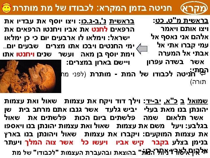 מקרא חניטה בזמן המקרא: לכבודו של מת מותרת בראשית מ