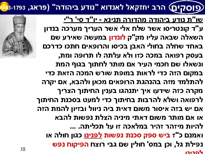 פוסקים הרב יחזקאל לאנדוא