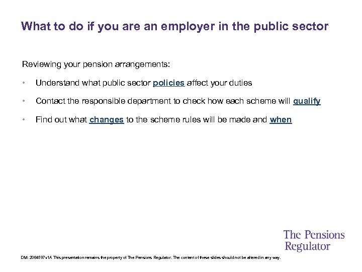 What to do if you are an employer in the public sector Reviewing your