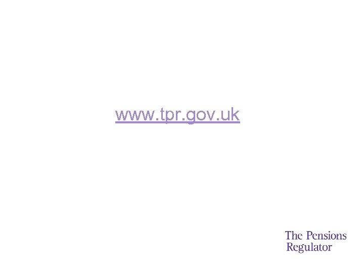 www. tpr. gov. uk