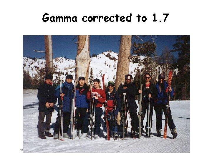 Gamma corrected to 1. 7 782